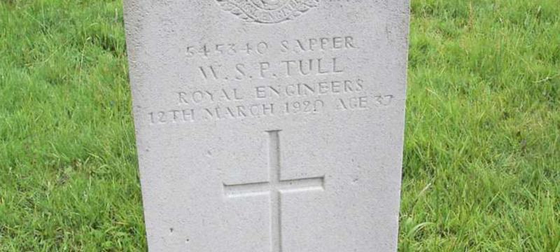 William Tull; Sapper, Royal Engineers
