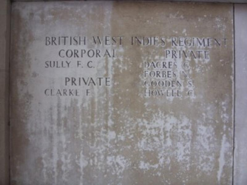 British West Indies Troops lost in the Ypres Salient
