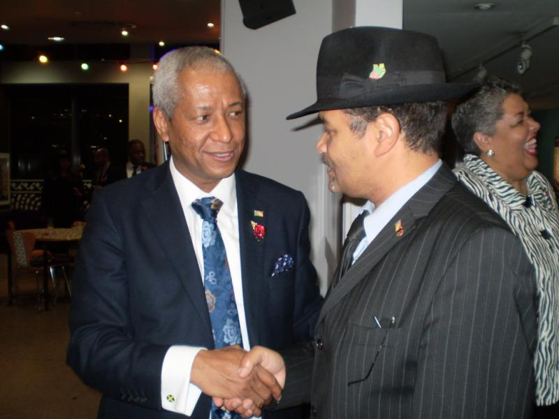 Jamaican Honorary Consul for Birmingham proudly wearing his WAWI Pin Badge
